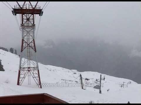 Auli resort offers skiing in the western Himalaya
