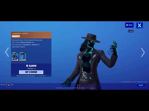 Fortnite Item Shop (May 25, 2020) (Fortnite Battle Royale) DEADEYE SKIN IS BACK!!!