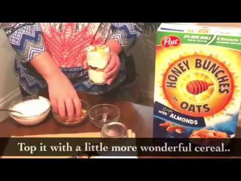 Yogurt Parfait With Honey Bunches Of Oats®