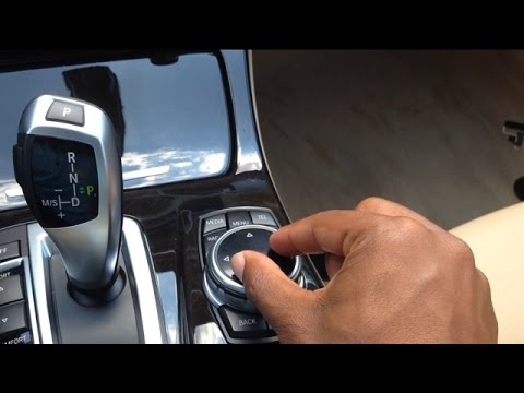 How the touchpad works on the BMW iDrive controller Houston Texas