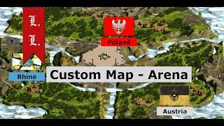 Cossacks 2 Battle for Europe - Custom Map- Arena: Austria vs Poland, Rhine (#21)