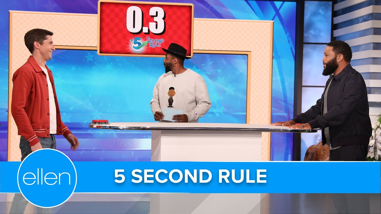 Topher Grace & Anthony Anderson Play '5 Second Rule'