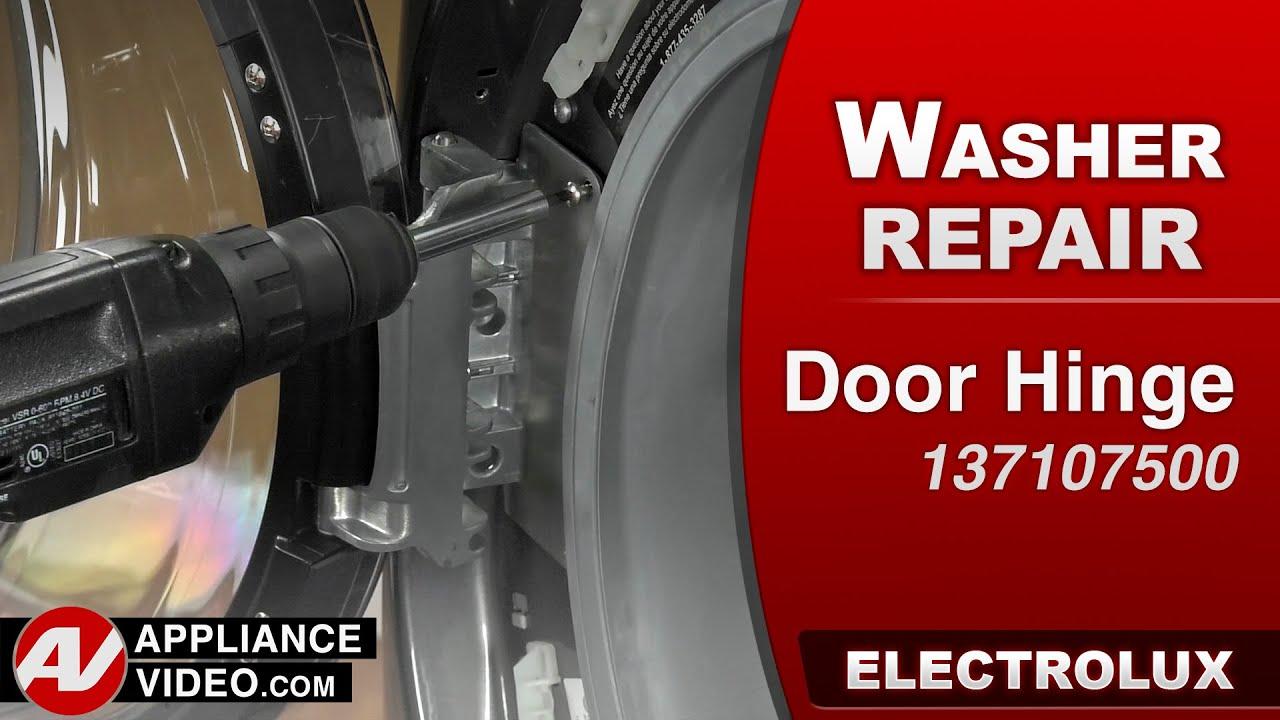 Electrolux Washer   Door Hinge Repair   YouTube