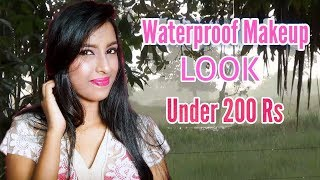 Waterproof Party Makeup Look Under 200 Rs || Dance And Care😱😱