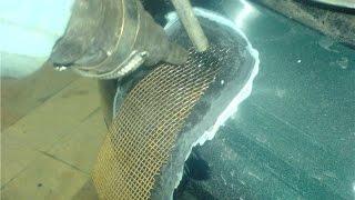 Шокирующая правда о ремонте бамперов при помощи сетки. Soldering bumper mesh(Чертёж