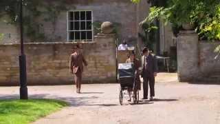 Filming Downton Abbey in Bampton for season six.