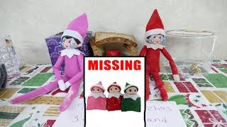 Elf On The Shelf Christmas Squishy Scavenger Hunt! Elf Babies Are Missing! Baby Shark Elf