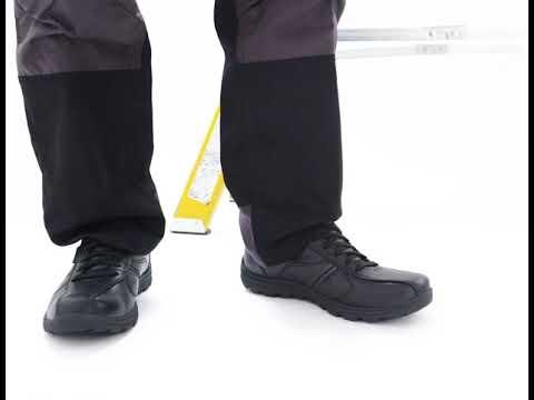 Geografía galería vulgar  Shuperb™ Skechers 77036EC/BLK RELAXED FIT: HOBBES - FRAT SR Mens Leather  Anti-Slip Shoes Black - YouTube