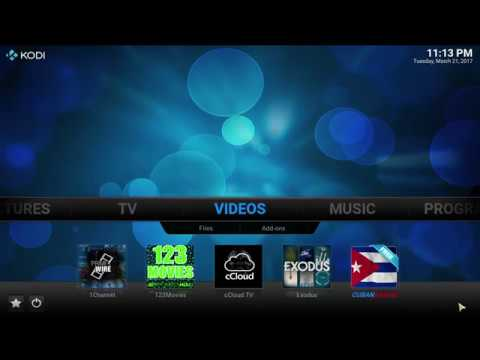 kodi how to add to home page
