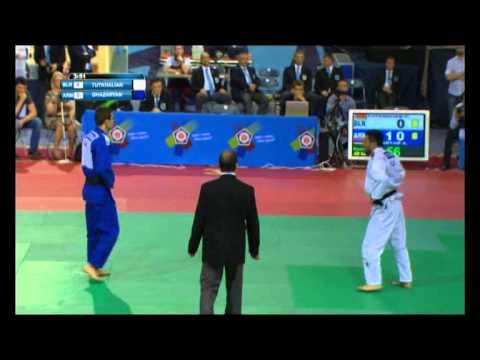 Дзюдо Открытий кубок Европы 2015 Вае Тутхалян Беларусь против Газарян Армения