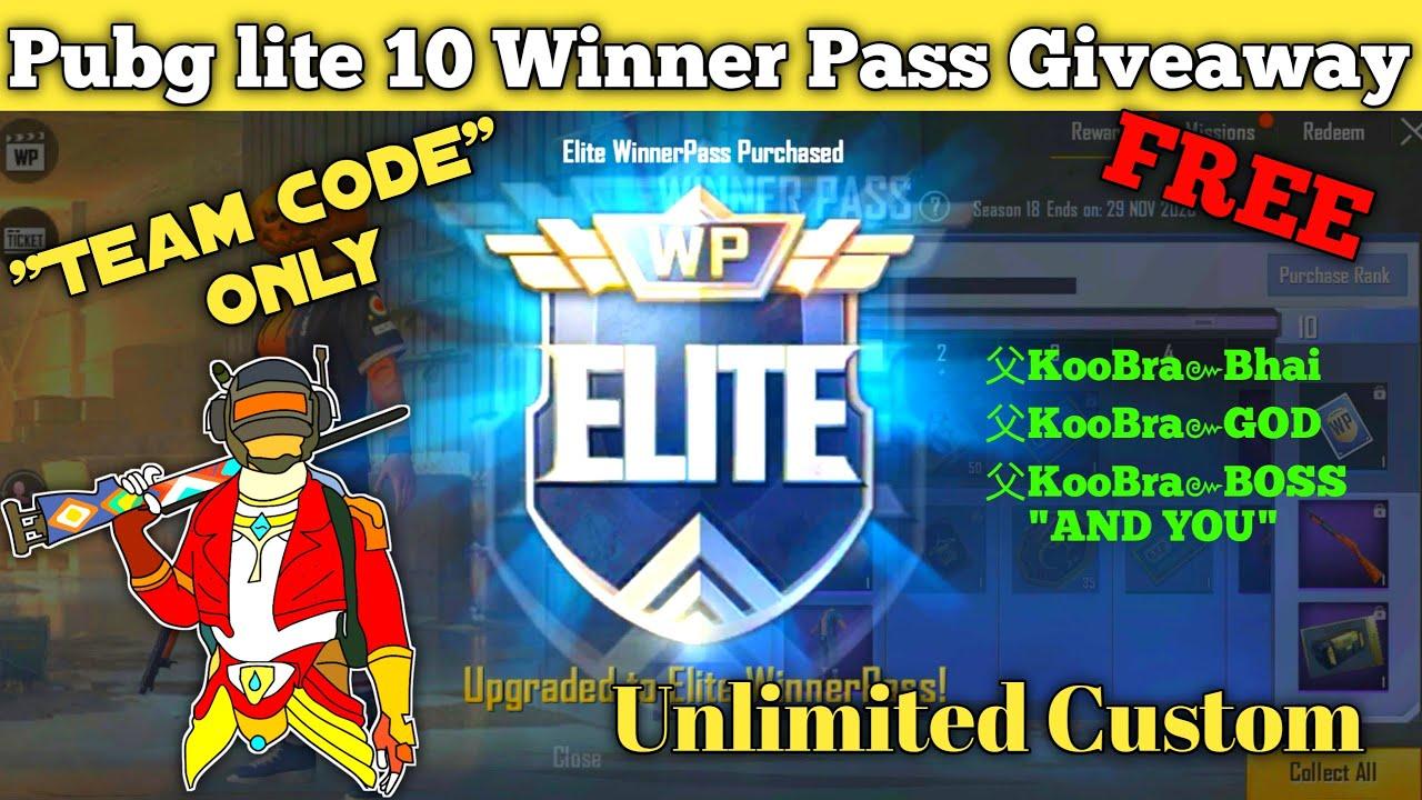 Download Pubg Lite Free winner pass giveaway | pubg  Lite live free winner pass | pubg lite live team code
