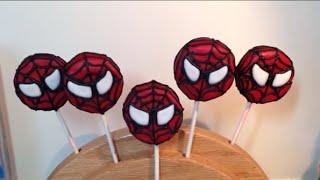 Spiderman Oreo Cookie Pops