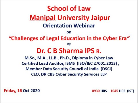 Challenges of Legal Education in the Cyber Era | Dr C.B. Sharma IPS (R)