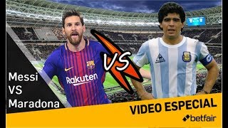 Messi VS Maradona. Resultado sorprendente tras mi análisis #MundoMaldini