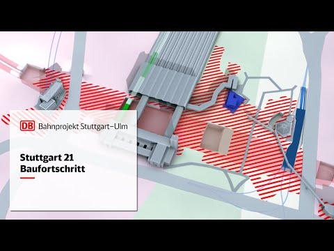 Animation Baufortschritt Stuttgart 21 | November 2016