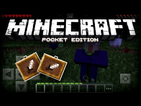 MCPE WITCHES & ITEM FRAMES GAMEPLAY! - 0.13.0 | Minecraft Pocket Edition Conceptual Update Showcase!