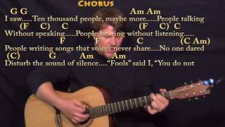The Sound of Silence (Simon & Garfunkel) Strum Guitar Cover Lesson in Am with Chords/Lyrics