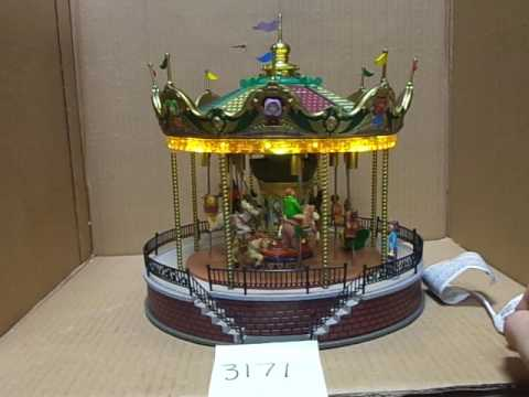 Lemax Village Collection Sunshine Carousel 14325 As-Is 3171