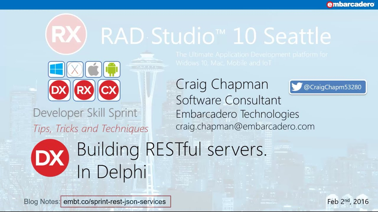 Delphi Skill Sprint - Building RESTful Servers - Craig Chapman
