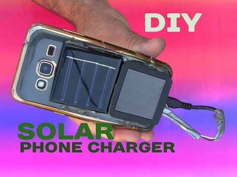 How to Make a Free Energy Emergency Mobile Phone Charger Solar Generator DIY