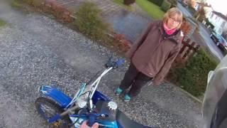 le moteur de la dirt bike cassé