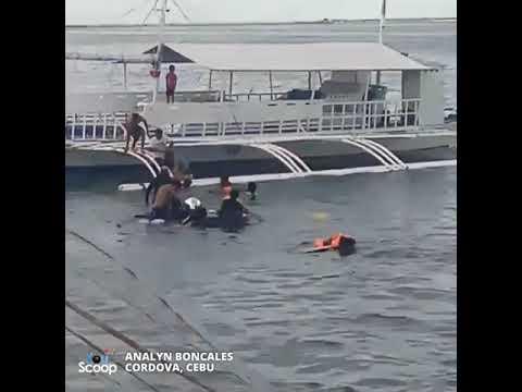 YouScoop: Sasakyan, nahulog sa dagat sa may Cordova Port, Cebu