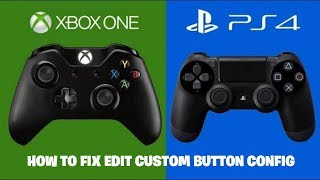 HOW TO FIX CUSTOM BUTTON CONFIG ON FORTNITE CONSOLE