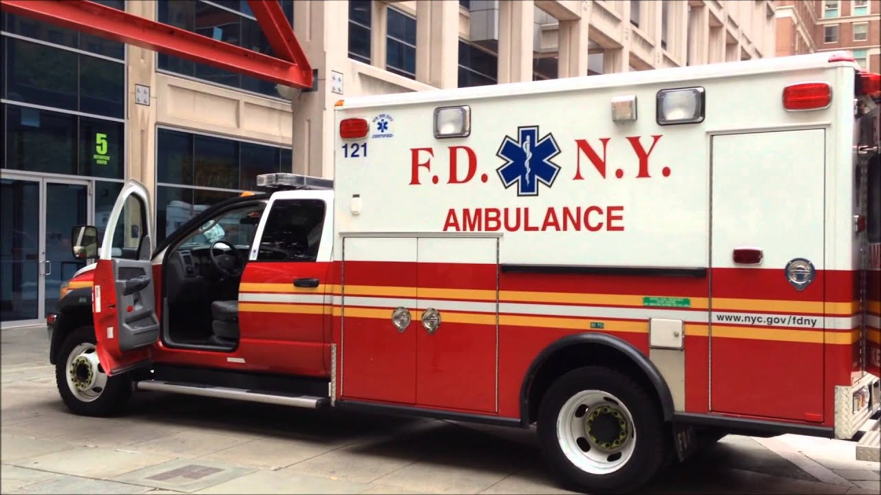 RARELY SEEN INSIDE OF NEW FDNY EMS AMBULANCE AT FIRE ...