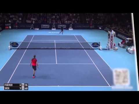 Roger Federer Vs Jack Sock Swiss Indoors Basel Open 2015
