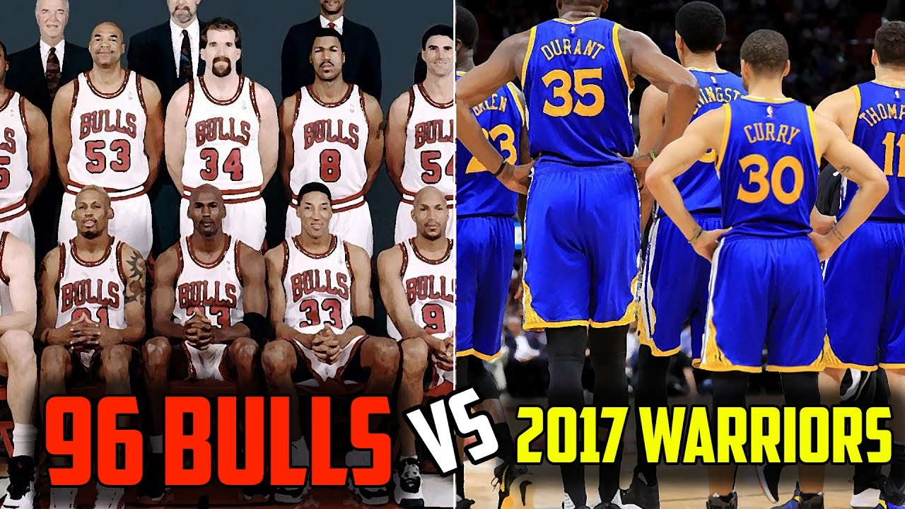 e8514ddd96a2 WHAT IF THE 2017 GOLDEN STATE WARRIORS PLAYED THE 1996 CHICAGO BULLS! WHO  WOULD WIN