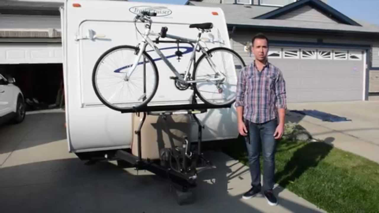 Arvika RV Bike Rack Travel Trailer Installation & Demo by ...
