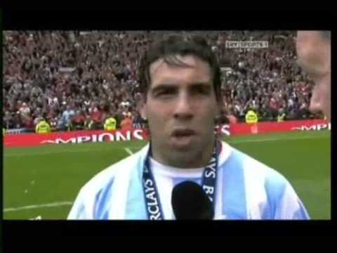 Carlitos Tevez hablando en ingles