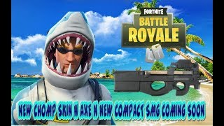 FORTNITE NEW UPDATE CHOMP SR. SKIN N CHOMP JR. AXE N NEW COMPACT SMG COMING SOON
