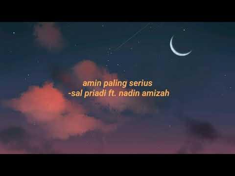 amin-paling-serius-(lirik)---sal-priadi-feat-nadin-amizah//aesthetic-lyrics✨🌆
