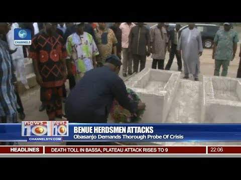 Obasanjo Demands Thorough Probe Of Herdsmen Crisis 10/03/18 Pt.1 |News@10|