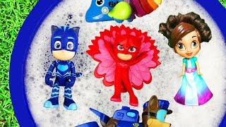Learn Colors Pj Masks, Paw Patrol, Disney Princess, Peppa Pig Learning Toys in Bucket For Kids