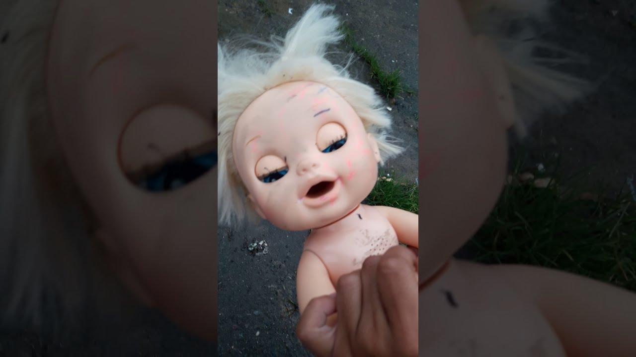 Achei uma baby alive no lixo 😮