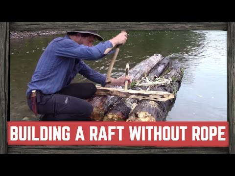 HOW TO BUILD A RAFT WITH NO ROPE!