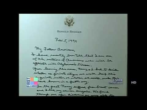 ronald reagan alzheimer's letter - youtube