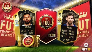 FIFA18 TOP 100 FUT CHAMPIONS WEEKLY REWARDS!!