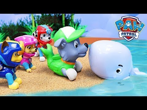 Paw Patrol Merpups and Sea Patrol Rescue Beached Giant Whale