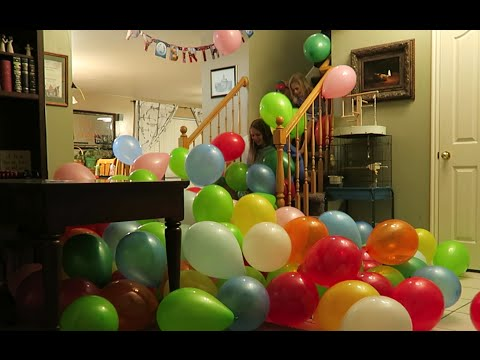 House Full Of Balloons Happy Birthday Azbury Youtube