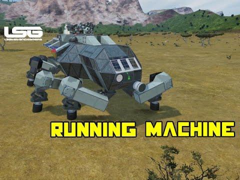 Space Engineers - Walker Madness Running Machine  