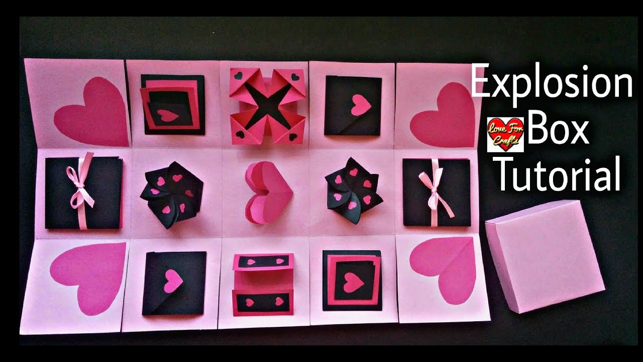 Infinity explosion box tutorial diy valentines day