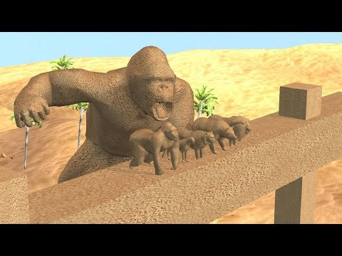 Sand  Animals Finger Family song for kids,Gorilla,3d rhymes,Lion,Tiger,cheetha,arcusn media kidz