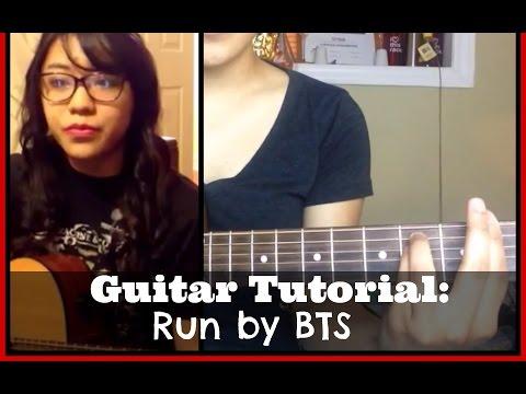 Guitar Tutorial (Beginner): Run by BTS (방탄소년단) [기타레손]