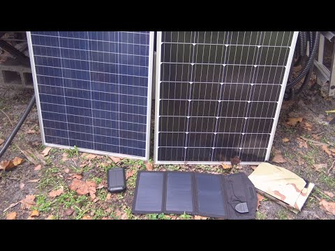 The Difference between Solar Panels, Monocrystalline/Polycry