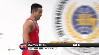 OM Yun Chol 1j 162 kg cat. 56 World Weightlifting Championship 2013