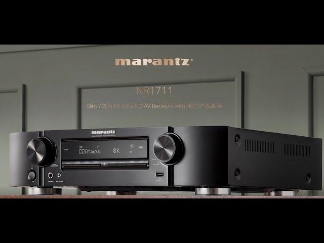 Marantz — NR1711 Slim 7.2Ch 8K Ultra HD AV Receiver