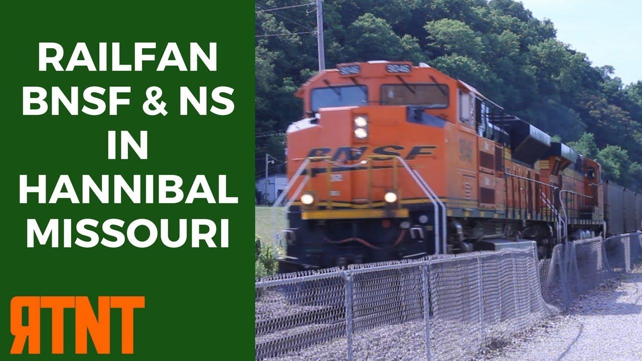 Railfan BNSF and NS in Hannibal Missouri